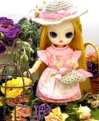 ピンク花柄ワンピ