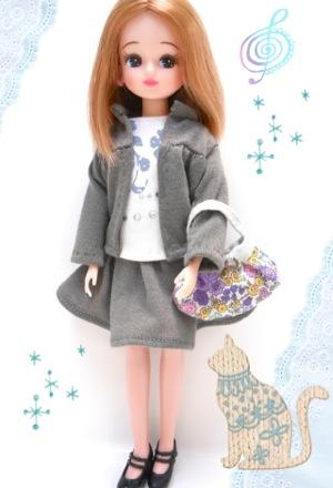 リカちゃんスカート22cmドール服型紙