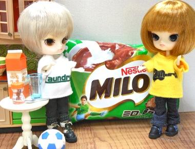 MILOミロBallとリトルダル+
