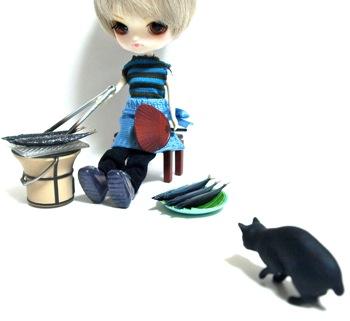 リトルダル+おんどりRoosterと猫