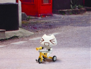 こねこもいっしょのこねこトロ三輪車フィギュア