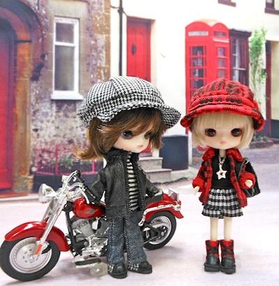 リトルダル+ジョルジュとジュエと手作りキャスケット帽子