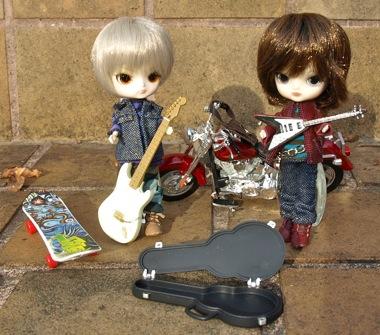 リトルダル+とミニチュアバイクとスケボー