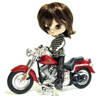 リトルダル+ジョルジュとバイク