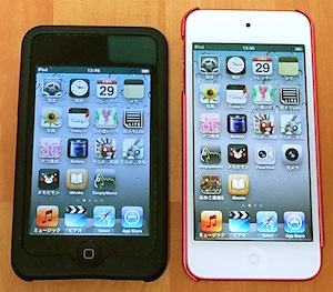 iPod touch第5世代と旧iPod touch