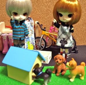 リトルダル+とミニチュア犬小屋