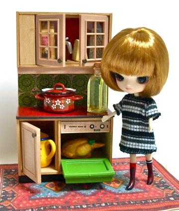 Lundbyヴィンテージミニチュアキッチン家具