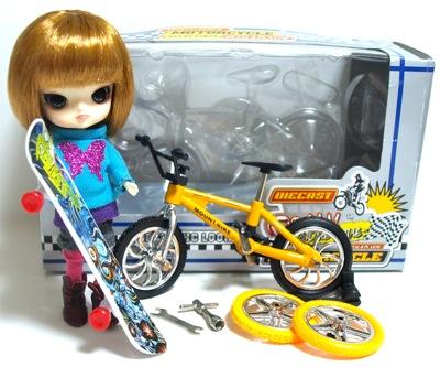 ミニチュアのマウンテンバイク