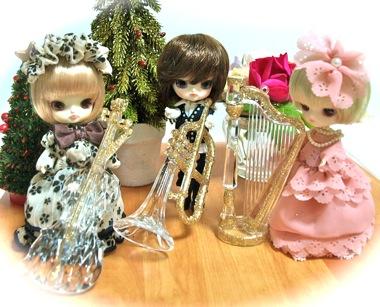 リトルダル+白兎ジョルジュジュエとミニチュア楽器
