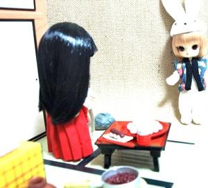 リトルダル+白兎半纏と巫女プキ