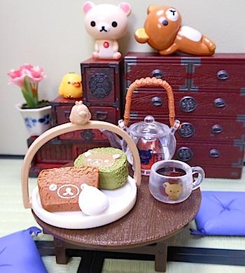 リーメント×リラックマ|和カフェ5ほわほわケーキセット