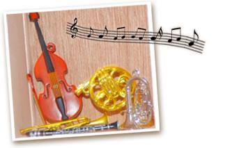 ミニチュアの楽器です